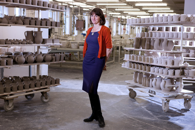 Emma Bridgewater at her pottery business located in Stoke-on-Trent